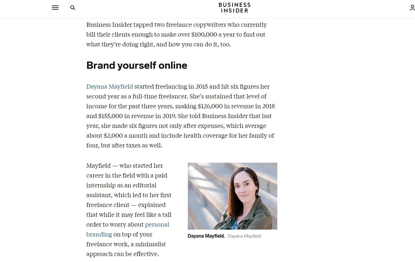 business insider feature from haro response